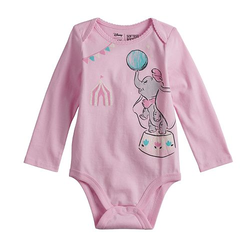 2139d2502 Disney's Dumbo Baby Girl Glittery Graphic Bodysuit by Jumping Beans®