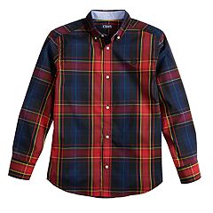 Boys 4-20 Chaps Button-Down Woven Shirt