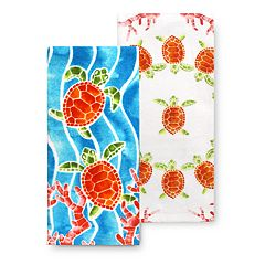 Celebrate Summer Together Sea Turtle Kitchen Towel 2-pk.