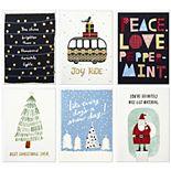 "Hallmark Studio Ink 6-Count ""Holiday Classics"" Assorted Christmas Cards"