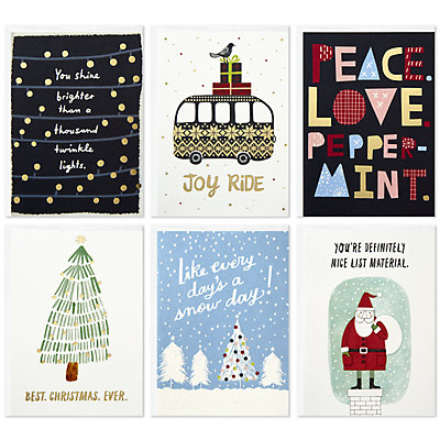 "Hallmark Studio Ink 6-Count ""Holiday Classics"" Assorted Christmas Cards"