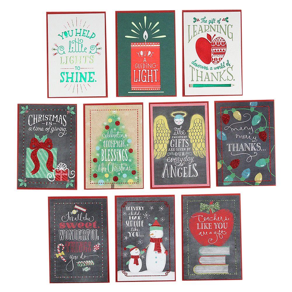 Hallmark 10-Count Teachers & Babysitters from Children Assorted Christmas Cards
