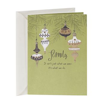 Hallmark Gold Ornaments Relative Christmas Card
