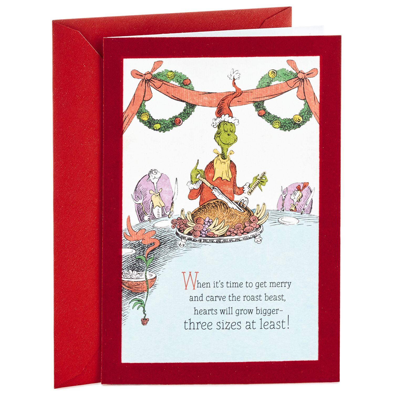 Hallmark Dr. Seuss Classic Grinch Christmas Card