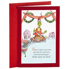 Hallmark Dr. Seuss Classic Grinch Christmas Card