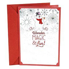 Hallmark Frosty the Snowman Christmas Card
