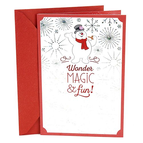 Hallmark Frosty the Snowman Christmas Card