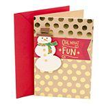 Hallmark Snowman and Polka Dots Christmas Card