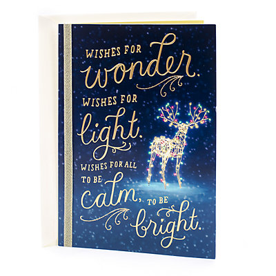 Hallmark Wishes for Blessed Season Christmas Card