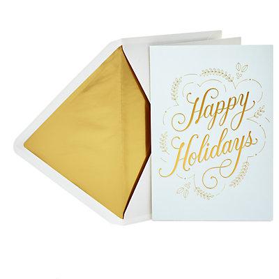 Hallmark Signature Happy Holidays Holiday Card