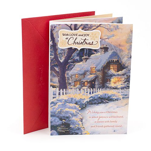 Hallmark Thomas Kinkade Snow Cabin Christmas Card