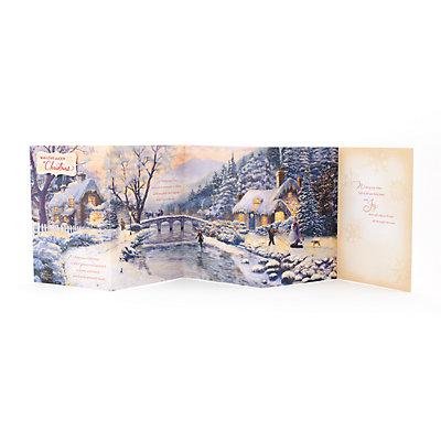 Hallmark Thomas Kinkade Snow Cabin Christmas Card