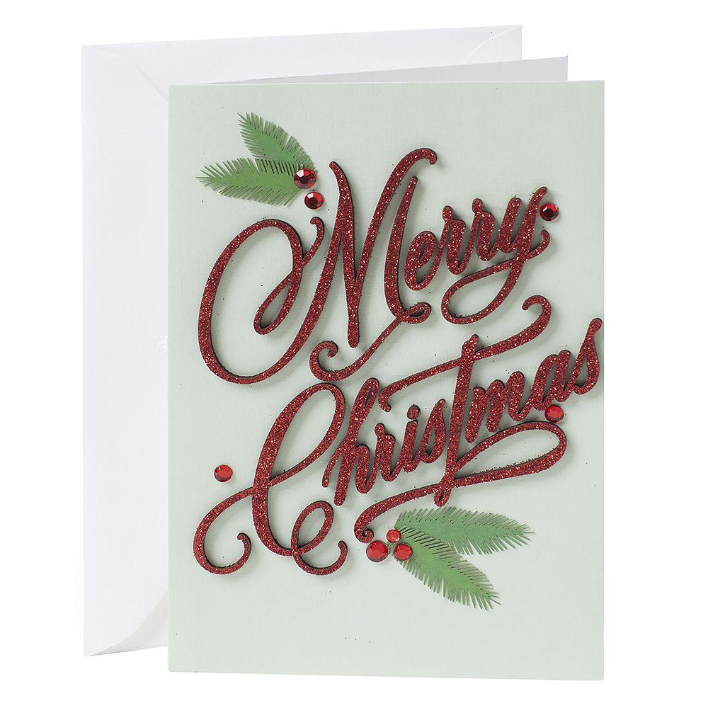 Hallmark Signature Merry Christmas Lettering Christmas Card