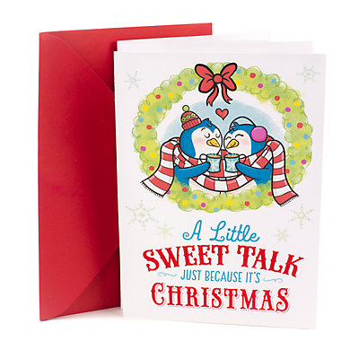 Hallmark Penguins Funny Romantic Christmas Card for Significant Other