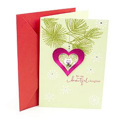 Hallmark Heart Ornament Christmas Card for Daughter