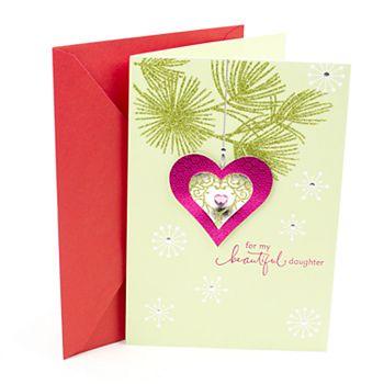Hallmark Heart Ornament Christmas Card for Daughter