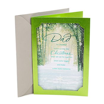 Hallmark Winter Scene Christmas Card for Dad