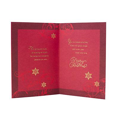 Hallmark Red Foil Tree Christmas Card for Mom & Dad