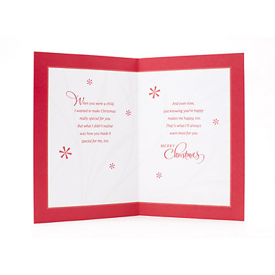 Hallmark Snowman with Red Background Christmas Card for Son