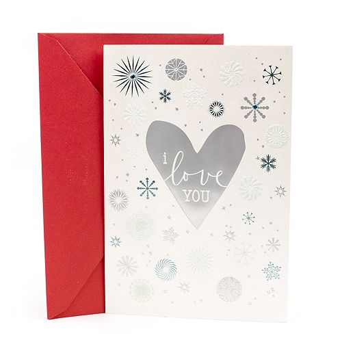 Hallmark Silver Hearts Romantic Christmas Card for Significant Other