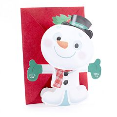 Hallmark Snowman Plays Displayable Christmas Card for Kid with Song