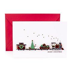 Hallmark Signature Christmas Train Greeting Christmas Card