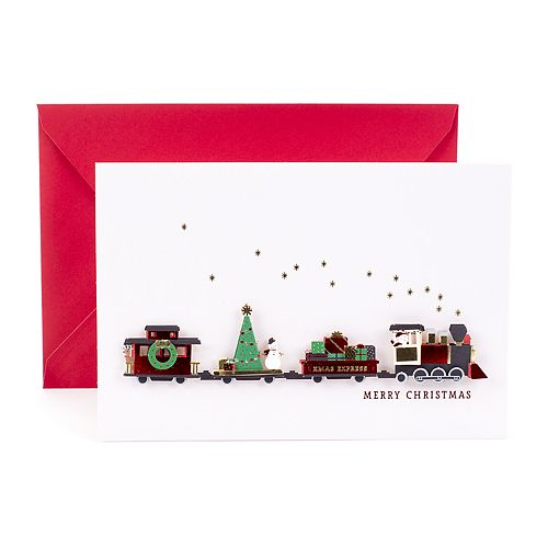 Hallmark Signature Christmas Train Greeting Christmas Card