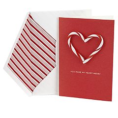 Hallmark Signature Candy Cane Heart Holiday Card for Significant Other