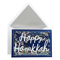 Hallmark Signature Happy Hanukkah Confetti Hanukkah Card