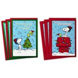 Hallmark Peanuts 6-Count Christmas Cards Assorted Christmas Cards