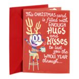 Hallmark Funny Reindeer with Message Christmas Pop-Up Card