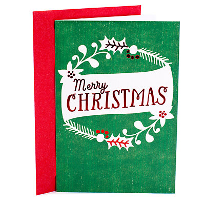 Hallmark 10-Count Wreath Christmas Cards