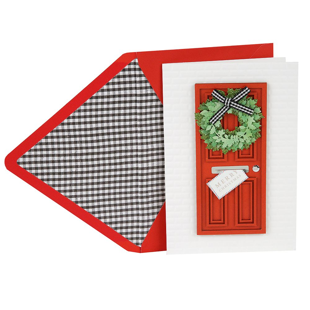 Hallmark Signature Welcoming Door Christmas Card