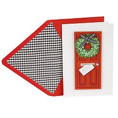 Hallmark Signature Welcoming Door Christmas Card