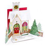 Hallmark Dimensional Church Christmas Card for Family with Light & Song
