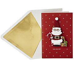 Hallmark Signature Santa in Glasses Christmas Card