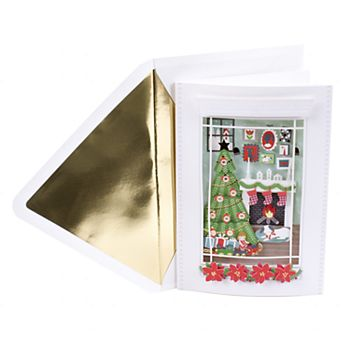 Hallmark Signature Christmas Tree Scene Christmas Card