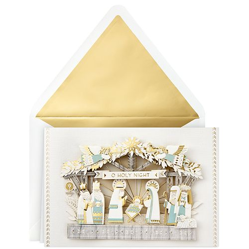 Hallmark Signature Nativity Scene Religious Christmas Card