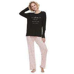Women's SONOMA Goods for Life™ Raglan Graphic Tee & Pants Pajama Set