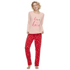 Women's SONOMA Goods for Life™ Raglan Graphic Tee & Pants Pajama Set
