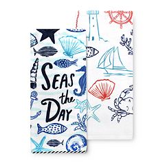 Celebrate Summer Together Nautical Kitchen Towel 2-pk.