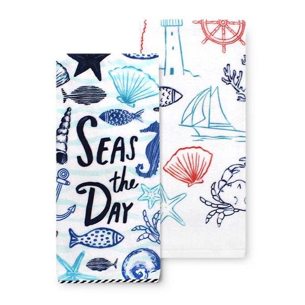 Celebrate Summer Together Nautical Kitchen Towel 2 Pk