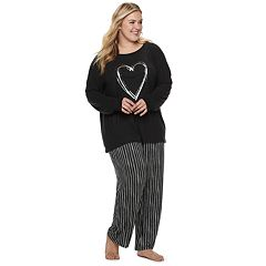Plus Size SONOMA Goods for Life™ Raglan Graphic Tee & Pants Pajama Set