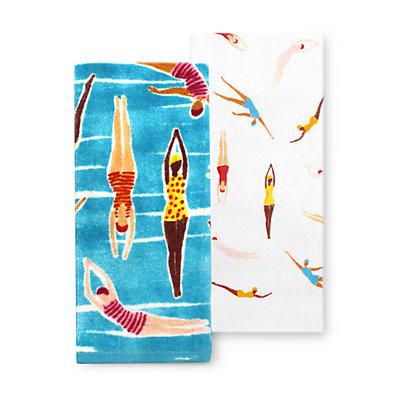 Celebrate Summer Together Swimmers Kitchen Towel 2-pk.
