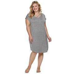 Plus Size SONOMA Goods for Life™ Crisscross Sleepshirt