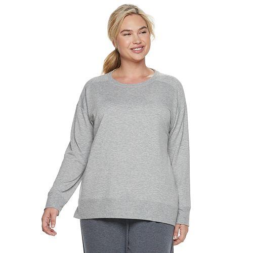 Plus Size SONOMA Goods for Life™ Crewneck Sleep Sweatshirt