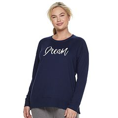 Plus Size SONOMA Goods for Life™ Crewneck Sleep Sweatshirt
