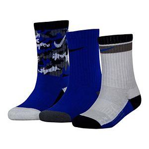 Boy's Nike 3-Pack Everyday Cushioned Crew Socks