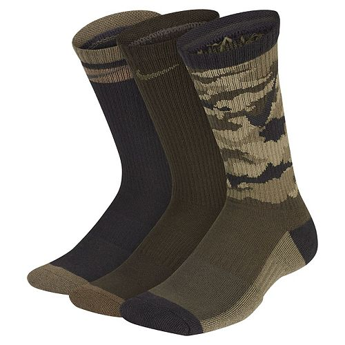 Boy's Nike 3-Pack Everyday Cushioned Crew Socks