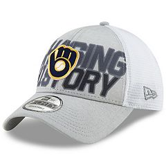 Adult New Era Milwaukee Brewers 2018 Postseason Chasing History 9FORTY Adjustable Cap